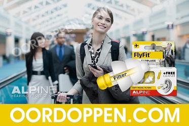 Oordopjes Vliegen Oordoppen Vliegtuig Gehoorbescherming Alpine Flyfit