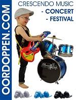Oordoppen Crescendo Music Oordopjes voor Festival Kruidvat Pluggerz Muziek Noizezz Green Concert Alpine PartyPlug Music Gehoorbescherming