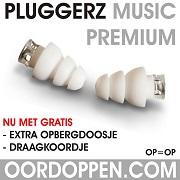 Aanbieding Pluggerz Oordopjes Music Premium Speciaal Muziek filter Festival gratis draagkoordje opbergdoosje