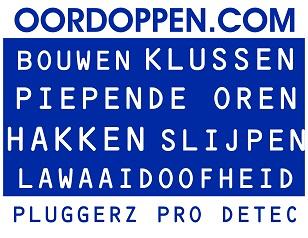 Pluggerz Pro Detec op Oordoppen.com - Oordopjes Klussen Bouwen Oorpijn Oorsuizen Gehoorbescherming Zagen Hakken Slijpen Slopen Boren Herrie Stoppers