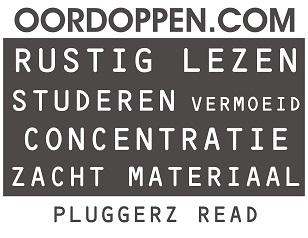 Oordoppen.com Pluggerz Read Oordopjes Lezen - Studeren Studie Examen Concentratie vermoeidheid Zacht materiaal Online Bestellen Aanbieding