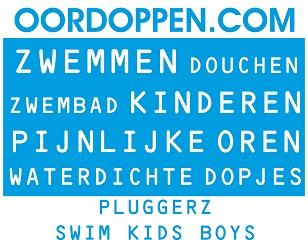 Oordoppen.com Pluggerz Swim Kids Boys - Blauwe Oordopjes Kinderen Jongens Zwemmen Zwemles Watersport Douchen Bad Waterdichte Gehoorbescherming