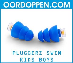 Pluggerz Swim Kids Boys op Oordoppen.com - Blauwe Oordopjes Zwembad Zwemmen Kinderen Loopoor Tegen water Pijnlijke Oren Bad Douchen Waterdichte Gehoorbescherming