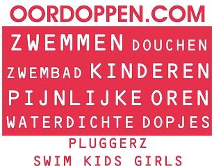 Oordoppen.com Pluggerz Swim Kids Girls - Roze Oordopjes Kinderen Meisjes Zwemmen Zwemles Watersport Douchen Bad Waterdichte Gehoorbescherming