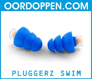 Pluggerz Swim op Oordoppen.com - Oordopjes Zwembad - Zwemmen - Loopoor - Tegen water - Pijnlijke Oren - Bad - Douchen - Waterdichte Gehoorbescherming