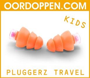 Pluggerz Travel Kids op Oordoppen.com - Oordopjes Kinderen Vliegen Vliegtuig Kind Oorpijn Luchtdrukverschillen Gehoorbescherming Treinreis Auto Bus Metro Camperen Camping Tent